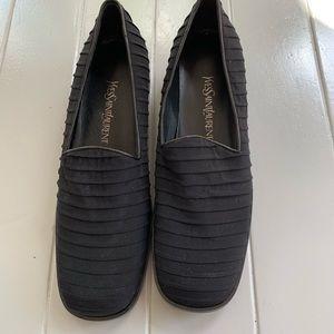 Yves Saint Laurent Black Tuxedo Loafers. Size 7.5